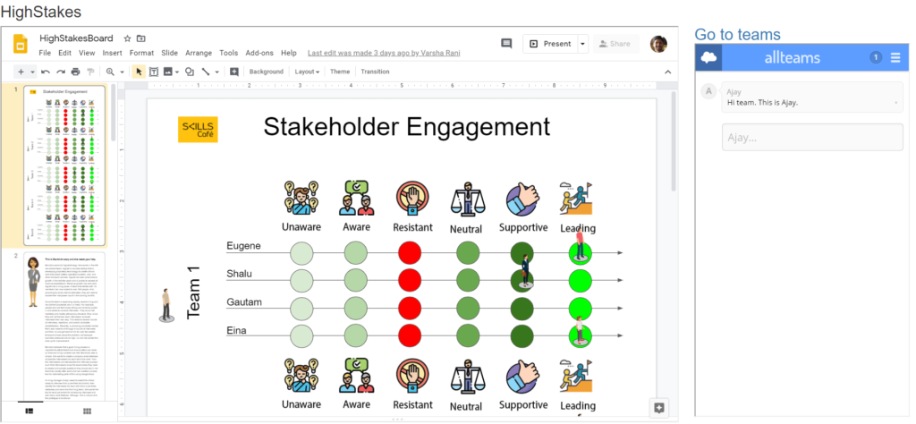Virtual Board Game UI - Stakeholder Engagement